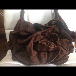Auth Yves Saint Laurent Suede shoulder bag